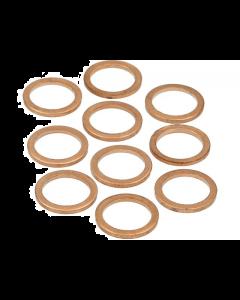 Koperenring 14x18mm 10 stuks (MOK-10156)