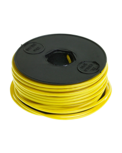 Montagesnoer / Lichtsnoer geel 25 meter (UNI-120620)