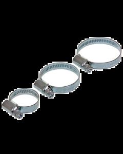 Slangklem - W2 RVS / Gegalvaniseerd 9 mm - 16-27 mm (UNI-123157)