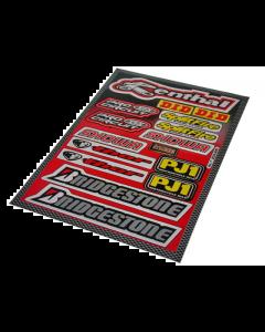 Stickerset - Sponsorkit Renthal / Bridgestone - 16 delig - 33 x 23 cm (FAL-982036)