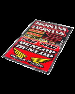 Stickerset - Honda / Dunlop - 15 delig - 33 x 23 cm (FAL-982034)