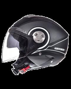 Helm MT Tron Zwart / Wit Maat XS (MT-101838023)