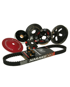 """Overbrengingset Naraku Sport V2 Compleet GY6 50cc 4 Takt (12"""" Wielen) (NK-KIT.A.139QMB.729)"""