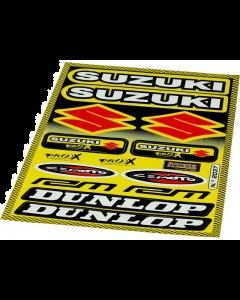 Stickerset Suzuki / Dunlop 20 delig 35 x 24 cm (FAL-982037)