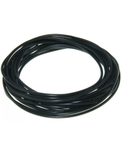 Montagesnoer / Lichtsnoer - 0.5 mm² - Zwart - 5 Meter (UNI-88266)