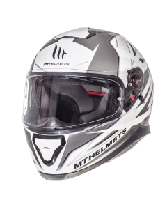 Helm MT Thunder III Wit / Zilver Maat XL (MT-105635707)