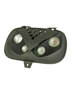 Voorkap incl verlichting - MBK Booster - Yamaha BW's - Carbon (STR-612.21/CA)