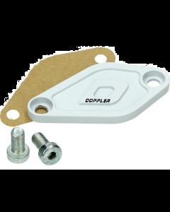 Afdekplaat Oliepomp Doppler Derbi Senda / Minarelli AM6 wit (DOP-479560)