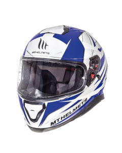 Helm MT Thunder III Wit / Blauw Maat XL (MT-105635717)