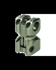 Stuurclamp Doppler Gilera & Piaggio titanium (DOP-451840)