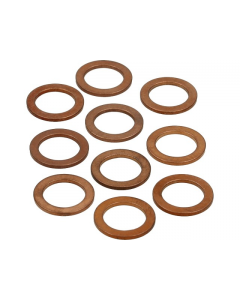Koperenring 12x18mm 10 stuks (MOK-10155)