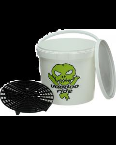 Voodoo Ride Emmer 15 Liter wit met deksel en grid guard (VOO-EMG20160-2)