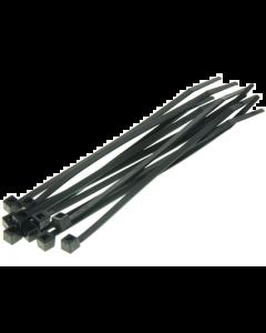 Kabelbinders / Tie Rib - Zwart - 3,6 x 140 mm - 100 Stuks (UNI-DG580350)