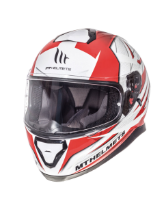 Helm MT Thunder III Wit / Rood Maat S (MT-105635724)