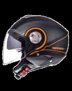 Helm MT Tron Zwart / Oranje Maat XS (MT-101838003)