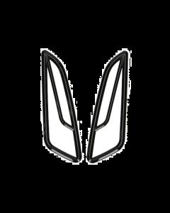 Knipperlicht roosters glans zwart Vespa Primavera en Sprint (DMP-38629)