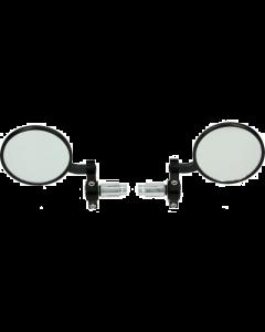 Spiegelset stuurbevestiging DMP Rond chroom (DMP-123039)