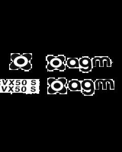 Logo set AGM VX50S Zwart (AGM-LOGO-VX50S-BL)
