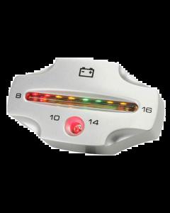 Voltmeter Koso - LED weergave - 8 ~16 Volt - Kleur: Zilver (KO-BH000S00)
