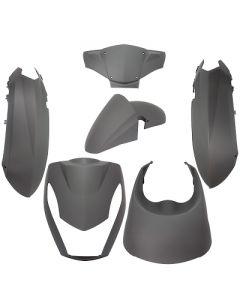 Kappenset TNT 6 delig mat zwart voor Peugeot Kisbee