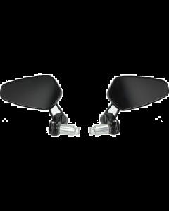 Spiegelset stuurbevestiging DMP Ovaal chroom (DMP-123040)