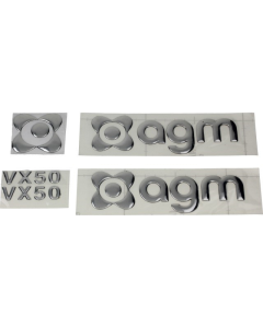 Logo set sticker AGM VX50 Chroom (AGM-LOGO-VX50-CH)