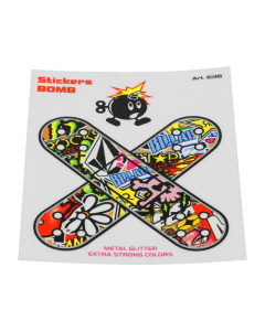 Stickerbomb sticker pleister 10cm (T4T-050265)