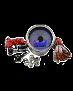 Toerenteller - Analoog en digitaal Koso - Witte Achtergrond - Tot: 9000 TPM (KO-BB551B21)