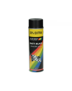 Spuitlak hoogglans mat zwart 500ml (MOT-04006)