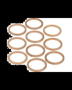 Koperenring 18x22mm 10 stuks (MOK-10159)