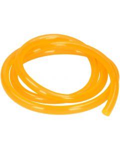 Benzineslang Mezoly Oranje transparant 1 meter